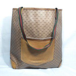 Gucci Bags - GUCCI Vintage Monogram Canvas Tote Bag